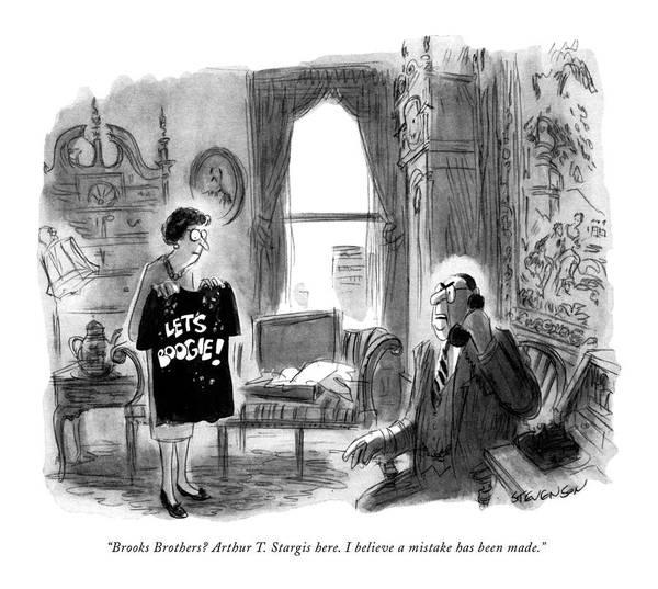 1974 Drawing - Brooks Brothers? Arthur T. Stargis Here by James Stevenson