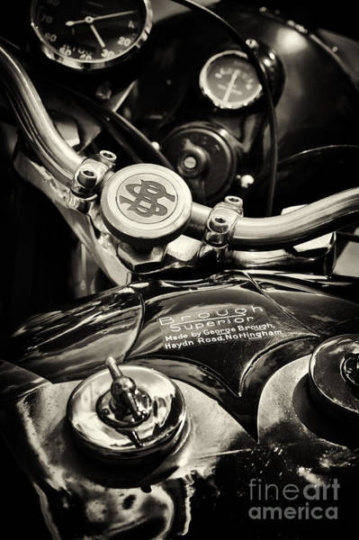 Photograph - Brough Superior Ss100 Sepia by Tim Gainey