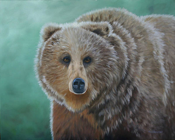 Bear Country Wall Art - Painting - Brown Bear by Julie Peterson