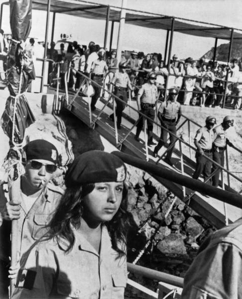 In Law Photograph - Brown Berets Leave Catalina by Underwood Archives