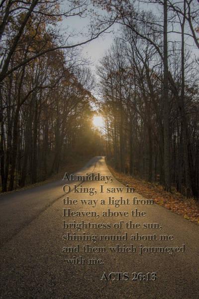 Photograph - Brown County State Park Nashville Indiana Biblical Verse by David Haskett II