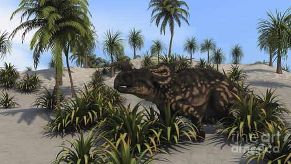 Digital Art - Brown Einiosaurus In A Tropical Setting by Kostyantyn Ivanyshen