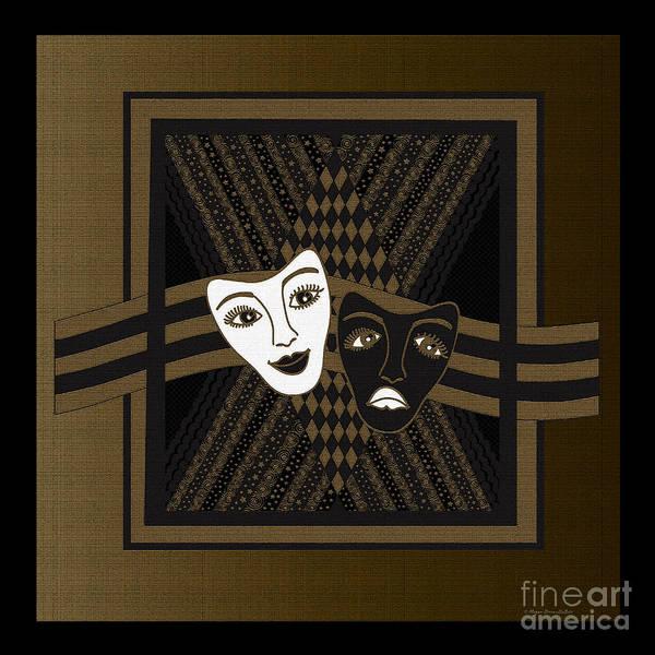 Digital Art - Brownblack Janus Masks by Megan Dirsa-DuBois