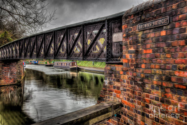 Narrow Boat Wall Art - Photograph - Browns Bridge England by Adrian Evans