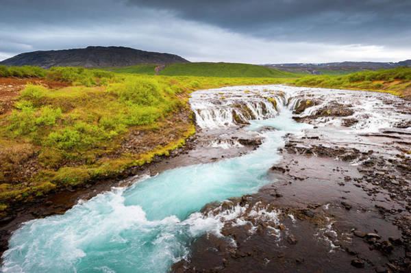 Golden Circle Photograph - Bruarfoss Waterefall, Iceland by Subtik