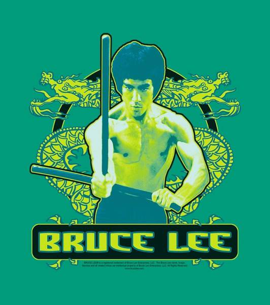 Hong Digital Art - Bruce Lee - Double Dragons by Brand A