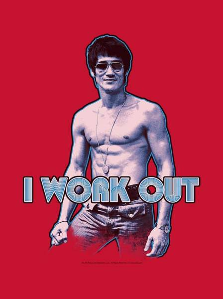 Hong Digital Art - Bruce Lee - Lee Works Out by Brand A