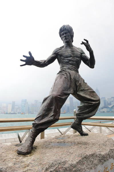 Photograph - Bruce Lee Statue In Avenue Of Stars by Songquan Deng