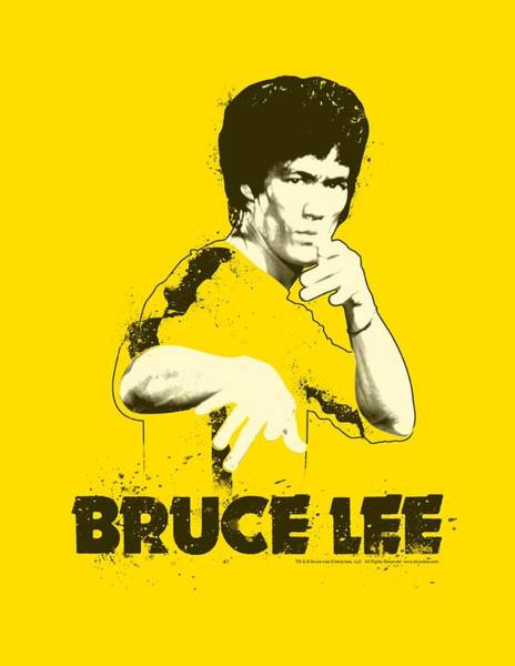 Hong Digital Art - Bruce Lee - Suit Splatter by Brand A