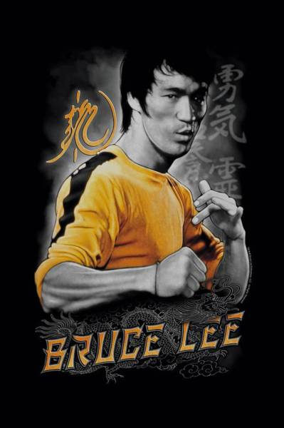 Hong Digital Art - Bruce Lee - Yellow Dragon by Brand A
