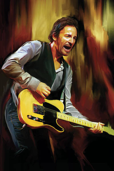 Wall Art - Painting - Bruce Springsteen Artwork by Sheraz A