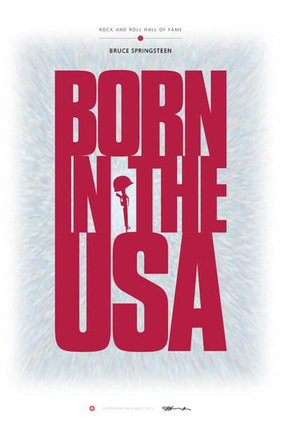 Digital Art - Bruce Springsteen - Born In The Usa by David Davies
