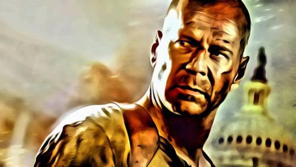 Painting - Bruce Willis by Florian Rodarte