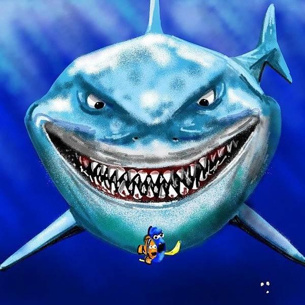 Wall Art - Photograph - #brucetheshark #shark #sharkds2 #nemo by David Burles
