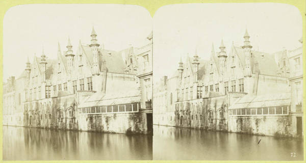 Chateau Drawing - Bruges Chateau Franc, Belgium, Bt by Artokoloro