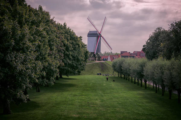 Photograph - Bruges Windmill by Joan Carroll