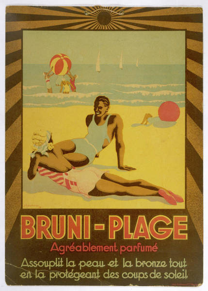 Tan Skin Drawing - Bruni-plage Softens Your Skin, Gives by Mary Evans Picture Library