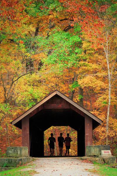 Photograph - Brush Creek Covered Bridge by Emmanuel Panagiotakis