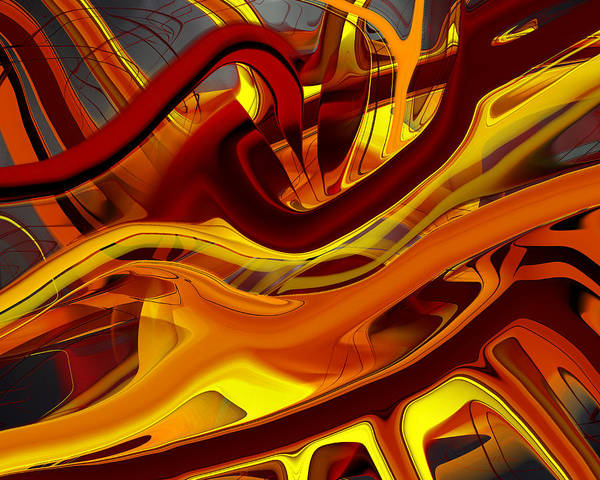 Digital Art - Brush Fire by rd Erickson