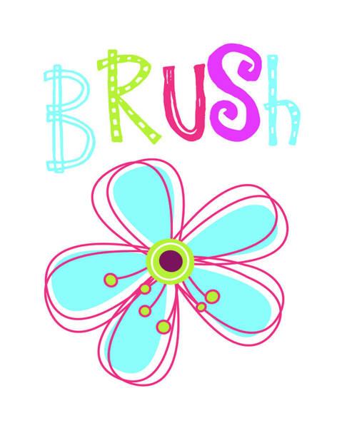 Bath Room Wall Art - Painting - Brush Flower by Tamara Robinson