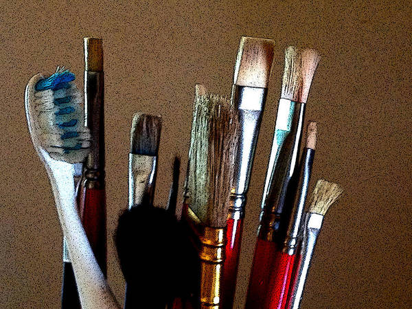 Photograph - Brushes by Jeff Iverson