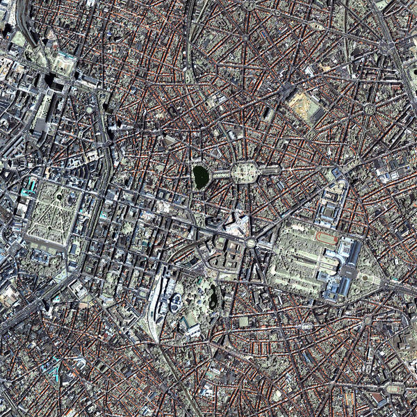 Belgian Photograph - Brussels by Space Imaging Europe/science Photo Library