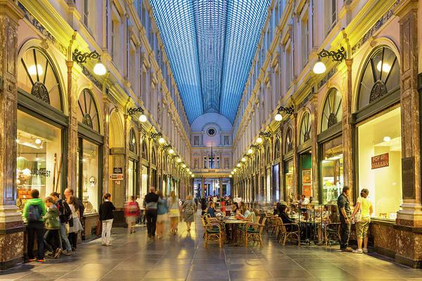 Belgian Culture Photograph - Brussels, St. Hubert Royal Galleries by Sylvain Sonnet