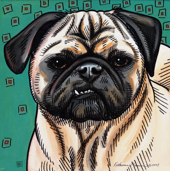Wall Art - Painting - Brutus by Katherine Plumer