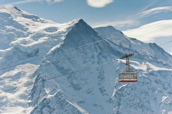 Chamonix Wall Art - Photograph - Brévent Cable Car by Alain Bachellier