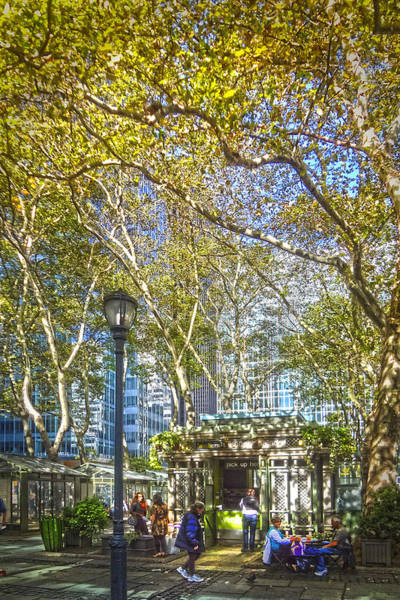 Wall Art - Photograph - Bryant Park Afternoon by Richard Trahan