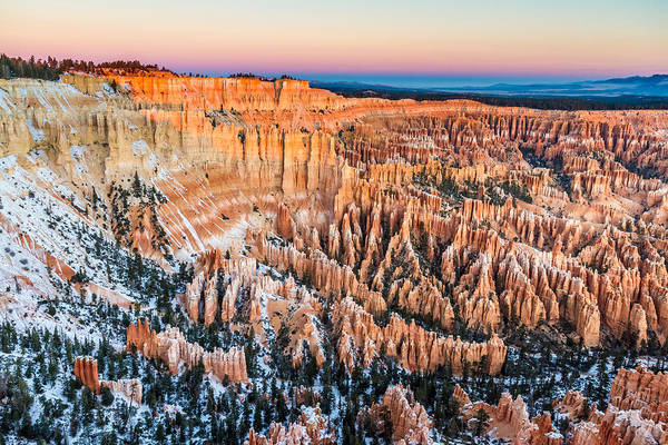 Photograph - Bryce Canyon At Dawn In Winter by Pierre Leclerc Photography