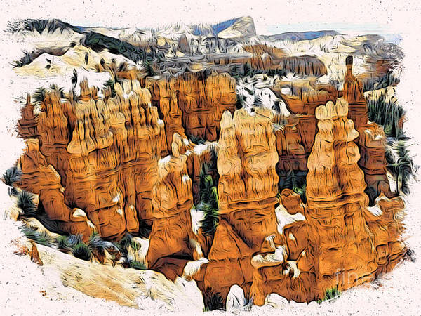 Zion Mixed Media - Bryce Canyon by Daxton Farr