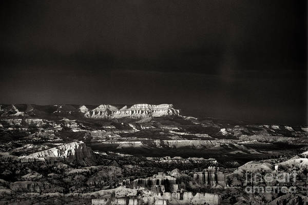 Photograph - Bryce Canyon Formations In Black And White by Dave Welling