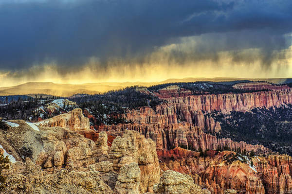 Photograph - Bryce Canyon Rain Storm by Paul W Sharpe Aka Wizard of Wonders