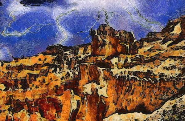 Wall Art - Painting - Bryce Canyon Thuderstorm by Dan Sproul