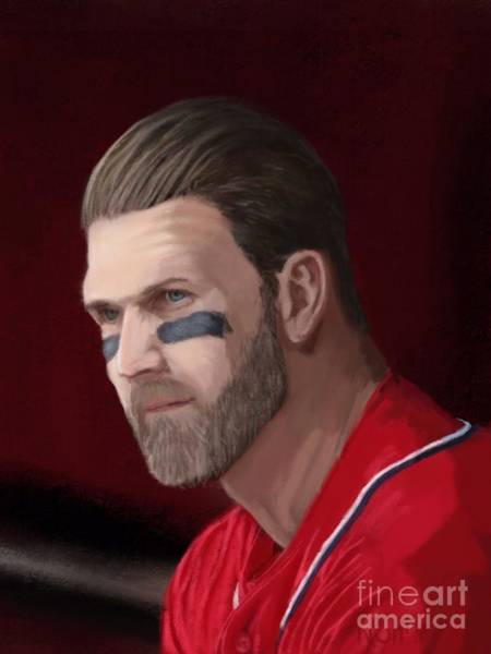 Hitter Painting - Bryce Harper by Jeremy Nash