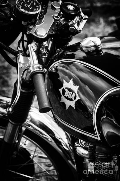 Photograph - Bsa Black Cafe Racer by Tim Gainey