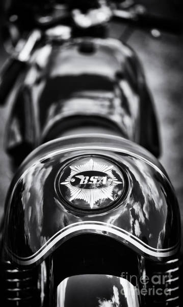 Photograph - Bsa Cafe Racer Monochrome by Tim Gainey