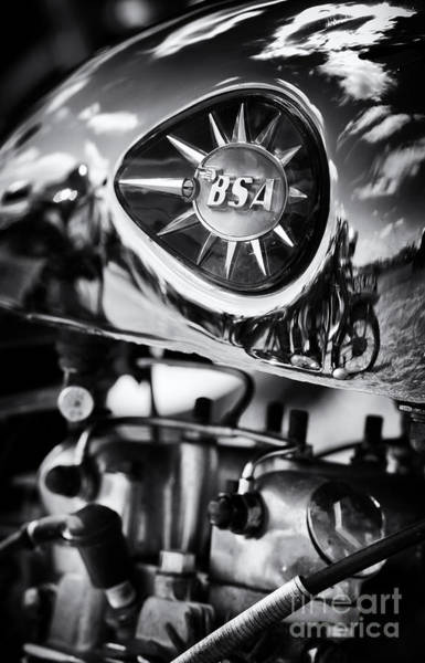 Photograph - Bsa Royal Star Monochrome by Tim Gainey