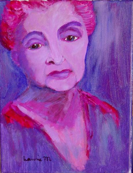 Painting - Bubbe Hinda by Laurie Morgan