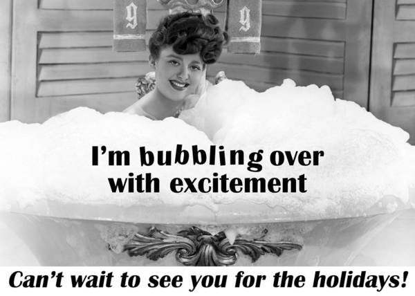 Wall Art - Photograph - Bubble Bath Holiday Greeting Card by Communique Cards