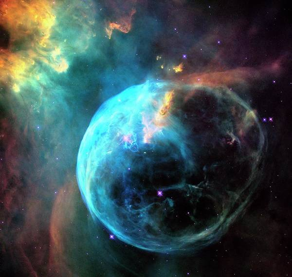 Wall Art - Photograph - Bubble Nebula by Nasa/esa/hubble Heritage Team (stsci/aura)/science Photo Library