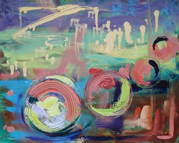Painting - Bubbles by Donna Tuten
