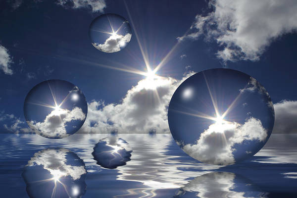 Bubbles In The Sun Art Print