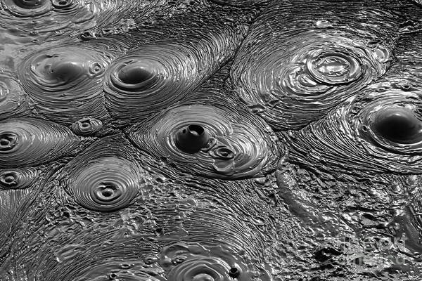 Photograph - Bubbling Mud Patterns 2 by James Brunker