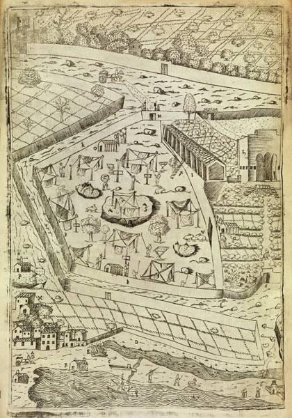 Vegetable Garden Photograph - Bubonic Plague Quarantine Site by Middle Temple Library