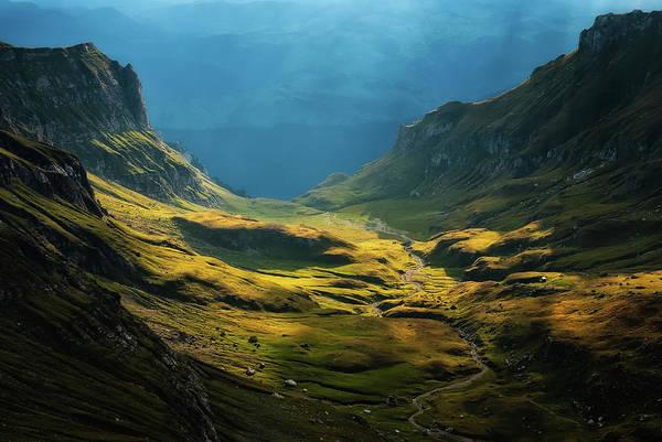 Valley Photograph - Bucegi Mountains by Cristian Lee