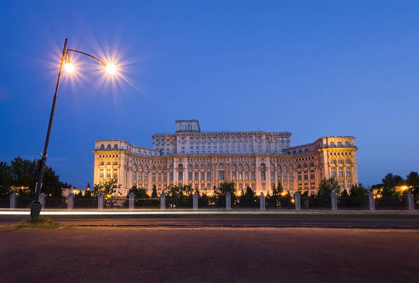 Ceausescu Wall Art - Photograph - Bucharest Parliament  by Ioan Panaite