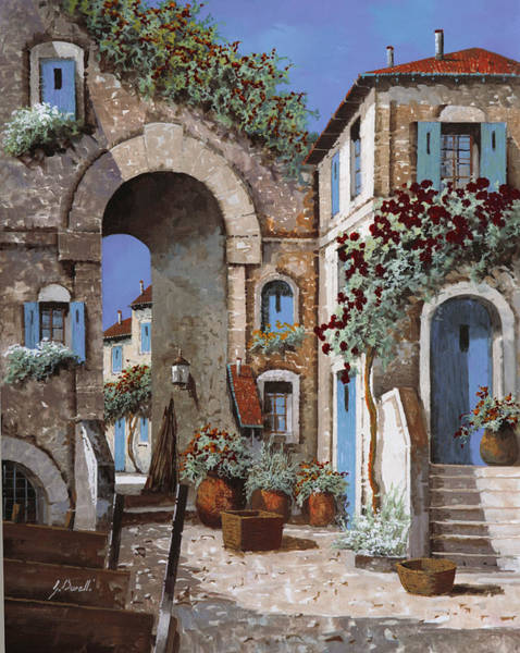 Arched Painting - Buchi Blu by Guido Borelli