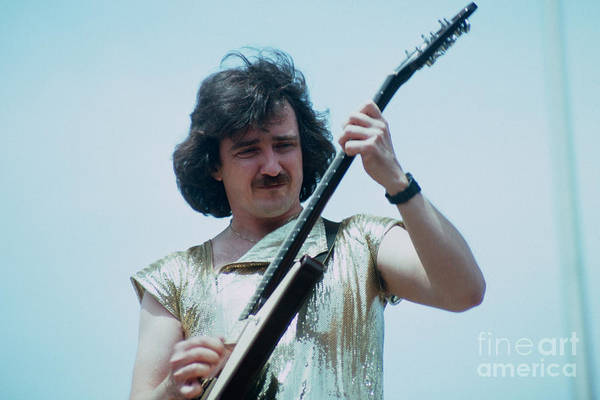 Blue Oyster Cult Wall Art - Photograph - Buck Dharma Of Blue Oyster Cult At Day On The Green In Oakland by Daniel Larsen